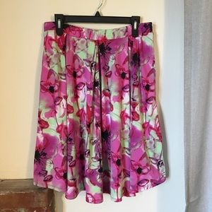 LuLaRoe Floral Madison Skirt With Pockets Stretchy